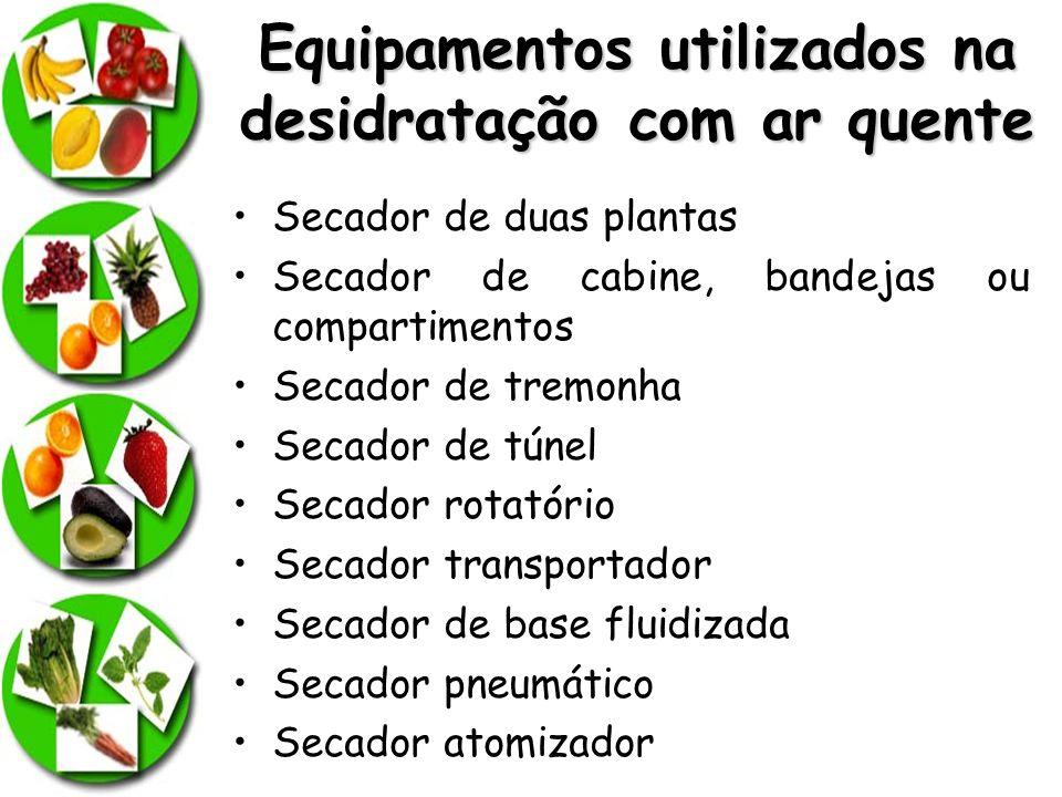Equipamentos utilizados na desidratação com ar quente