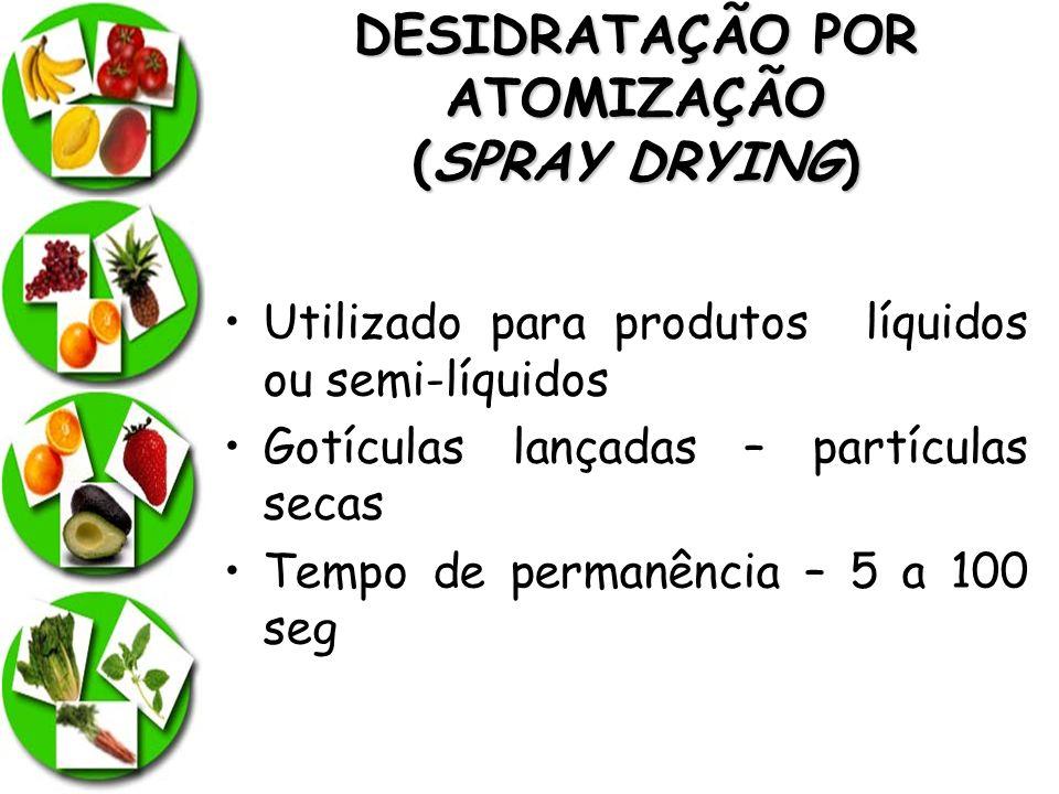 DESIDRATAÇÃO POR ATOMIZAÇÃO (SPRAY DRYING)