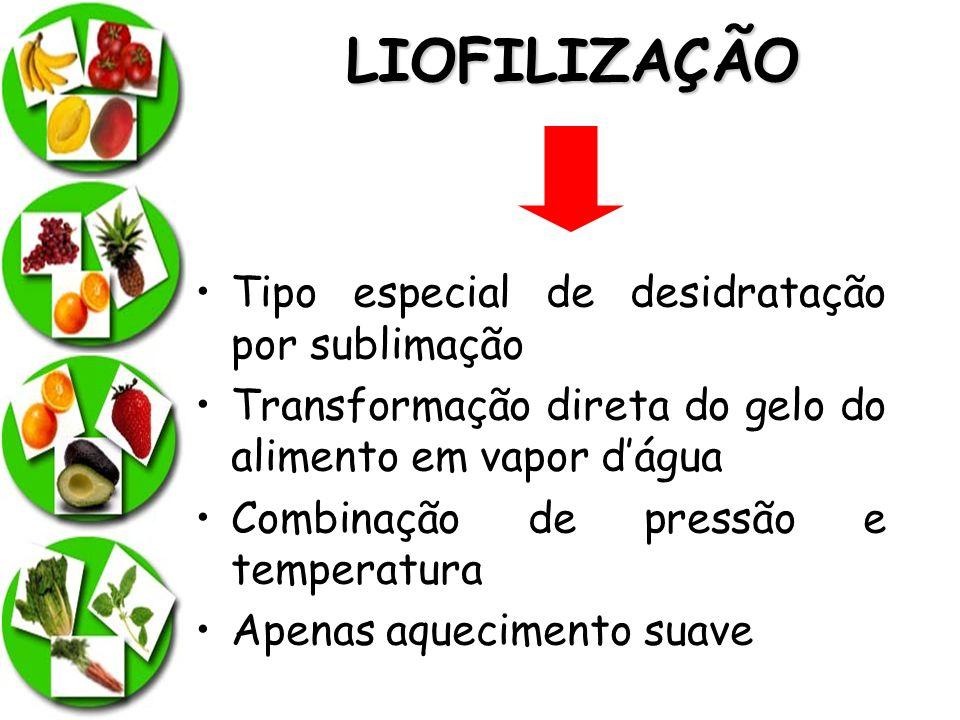 LIOFILIZAÇÃO Tipo especial de desidratação por sublimação