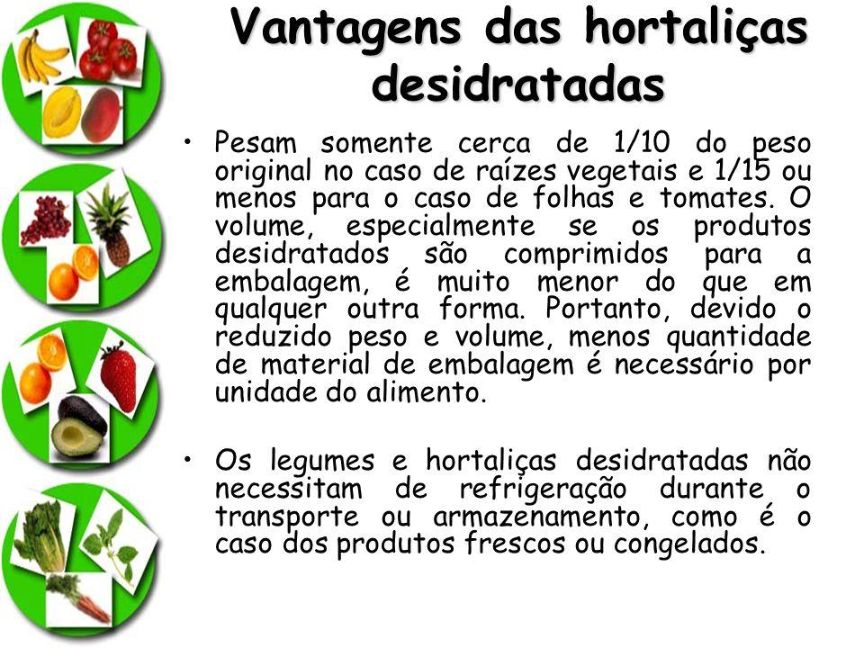 Vantagens das hortaliças desidratadas