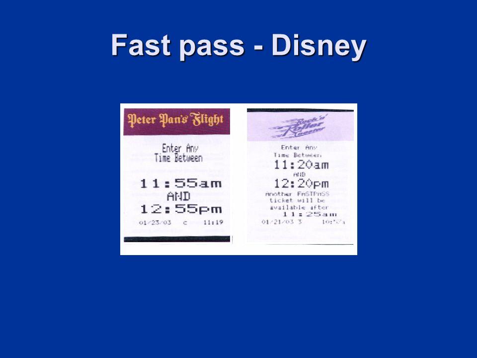 Fast pass - Disney