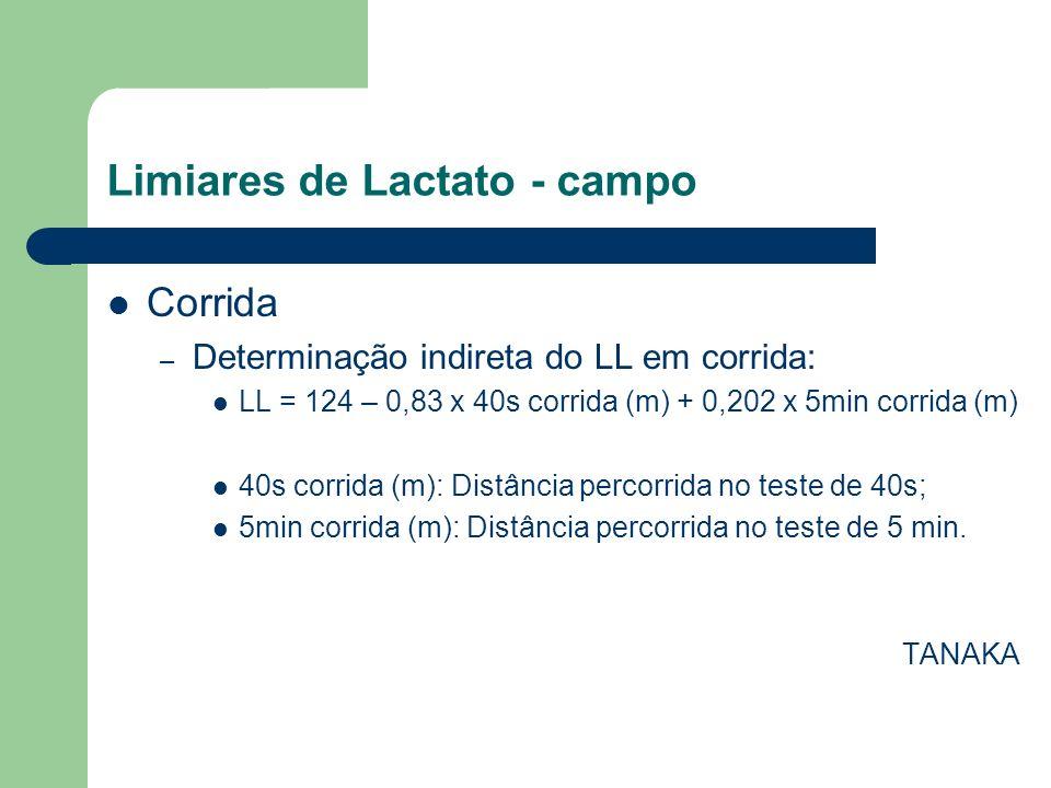 Limiares de Lactato - campo