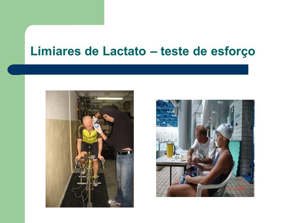 Limiares de Lactato – teste de esforço