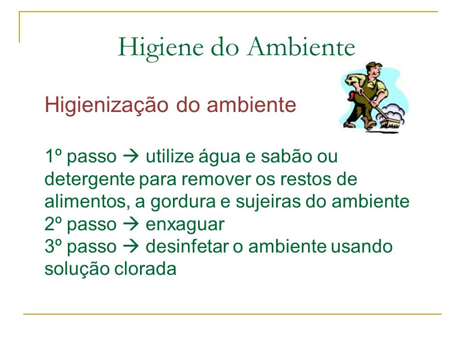 Higiene do Ambiente