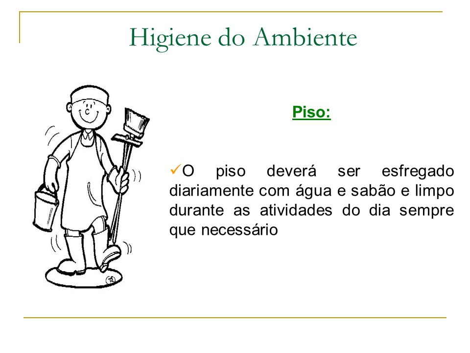 Higiene do Ambiente Piso: