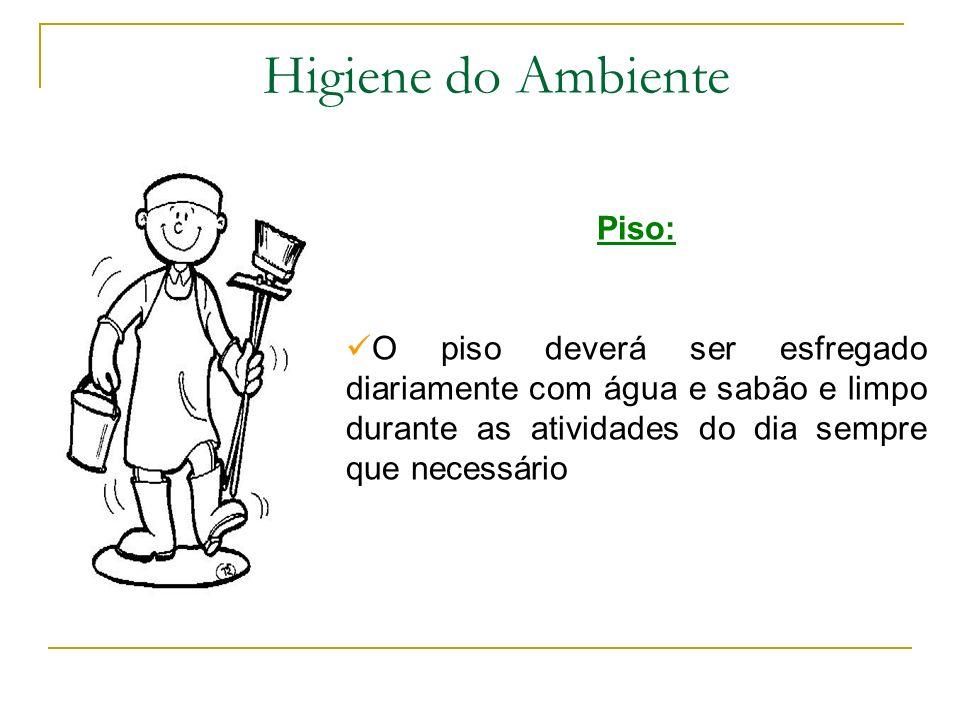 Higiene do Ambiente Piso: