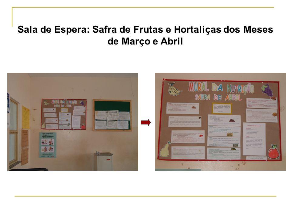 Sala de Espera: Safra de Frutas e Hortaliças dos Meses de Março e Abril