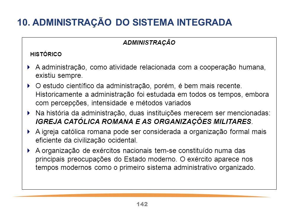 10. ADMINISTRAÇÃO DO SISTEMA INTEGRADA