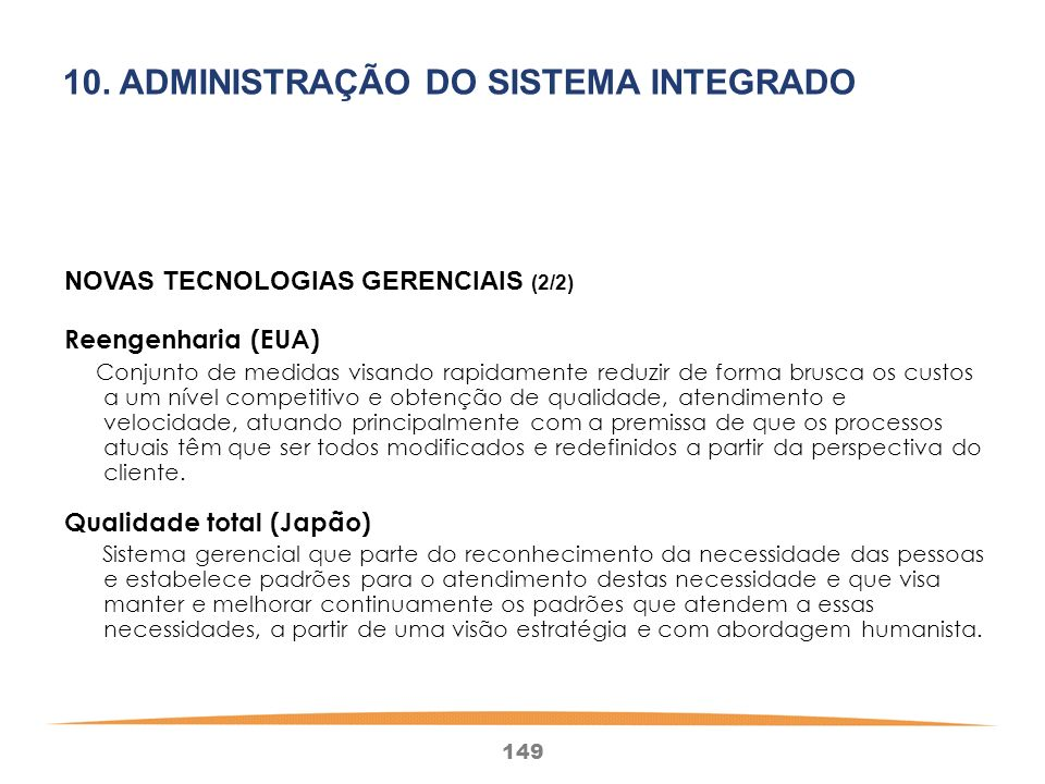 10. ADMINISTRAÇÃO DO SISTEMA INTEGRADO