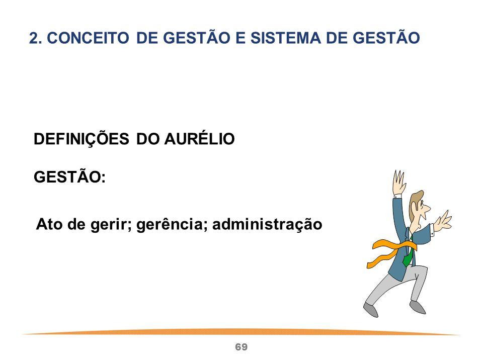 2. CONCEITO DE GESTÃO E SISTEMA DE GESTÃO