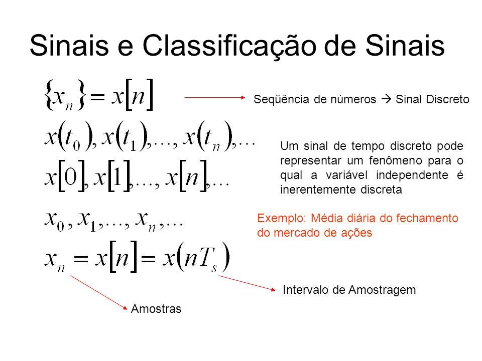 Sinais e Classificação de Sinais