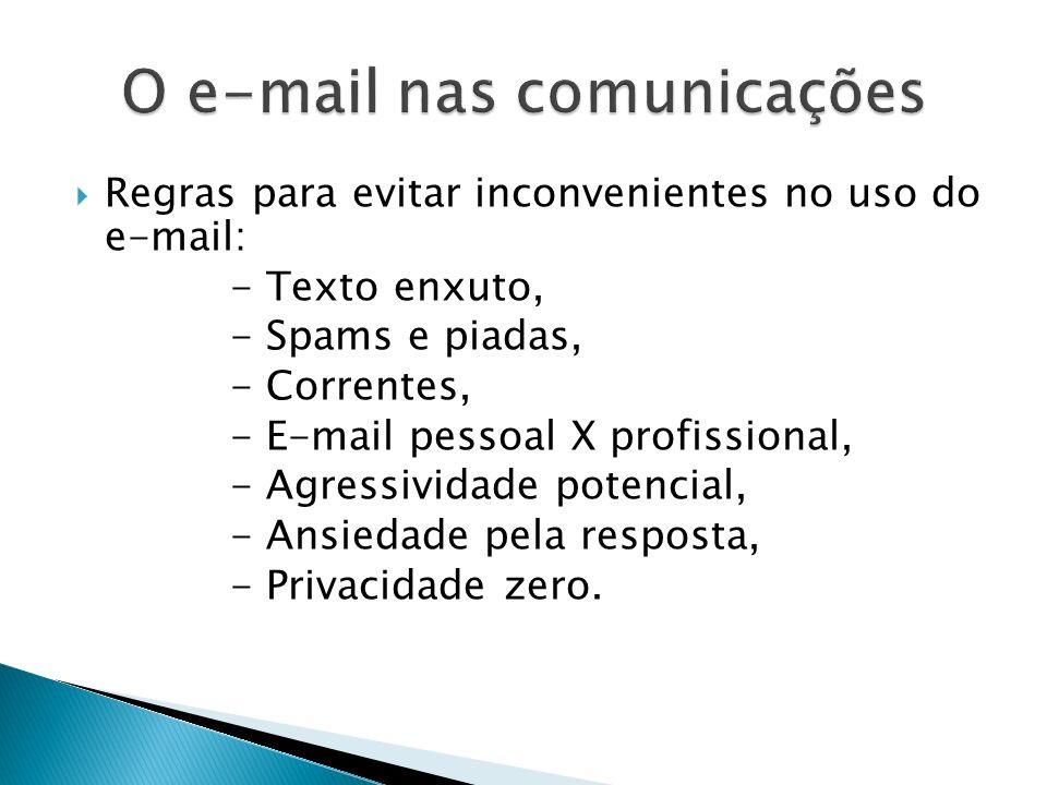 O e-mail nas comunicações