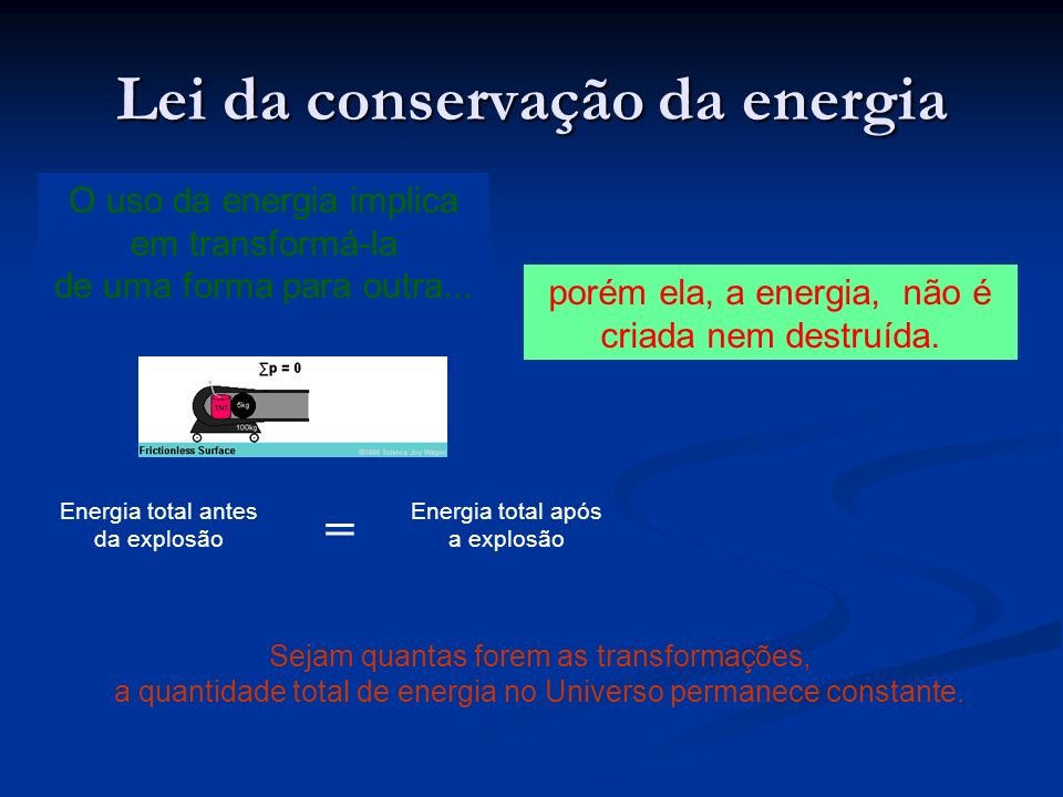 Lei da conservação da energia