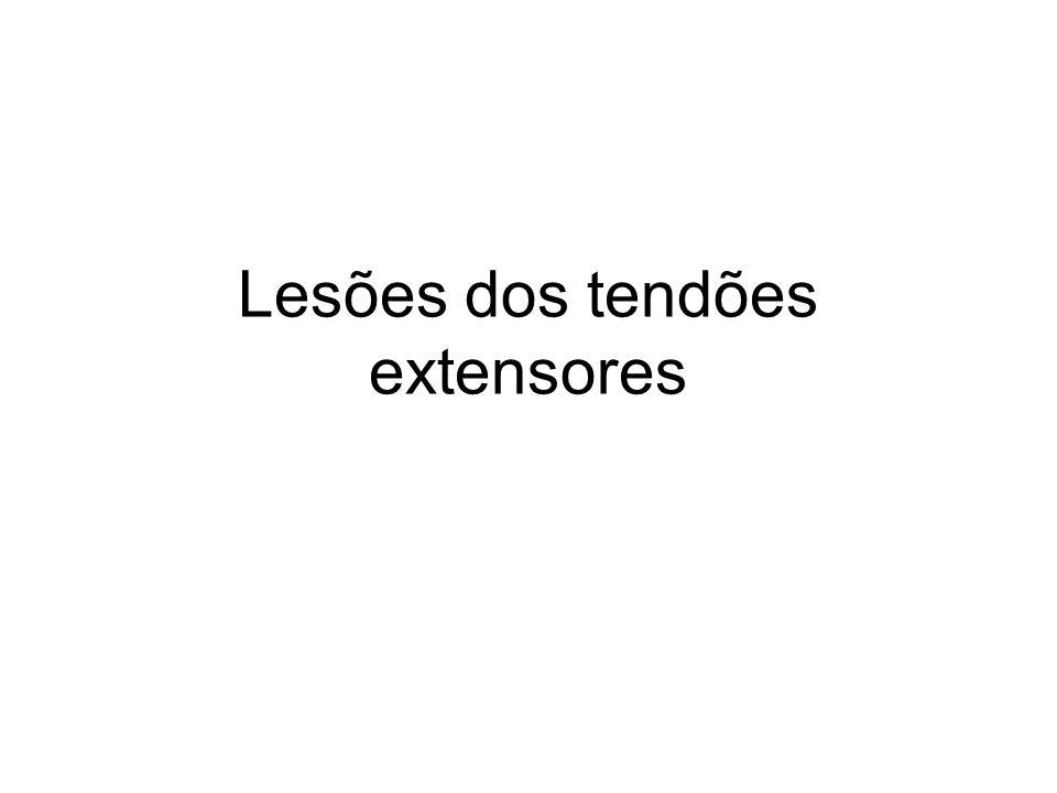 Lesões dos tendões extensores