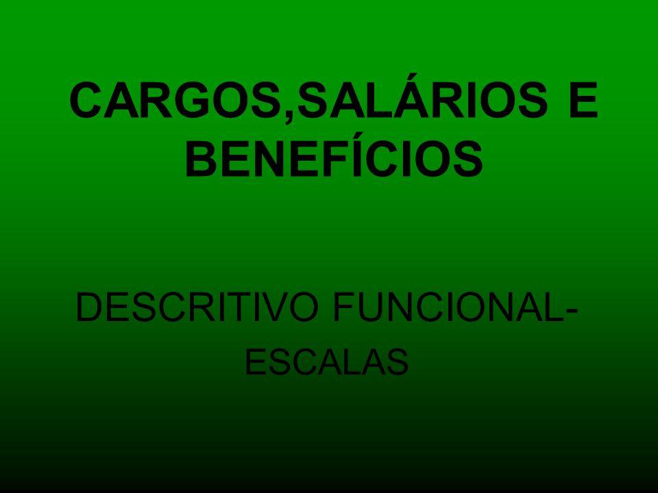 CARGOS,SALÁRIOS E BENEFÍCIOS