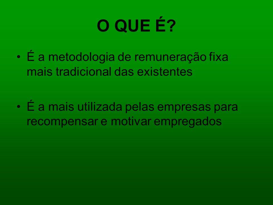 O QUE É É a metodologia de remuneração fixa mais tradicional das existentes.