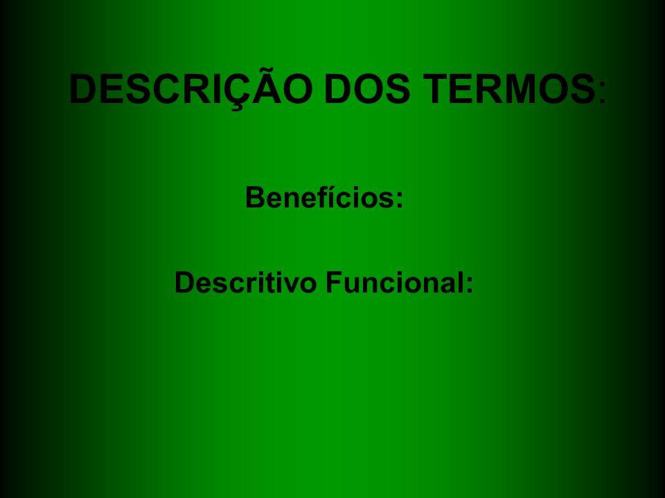 Benefícios: Descritivo Funcional: