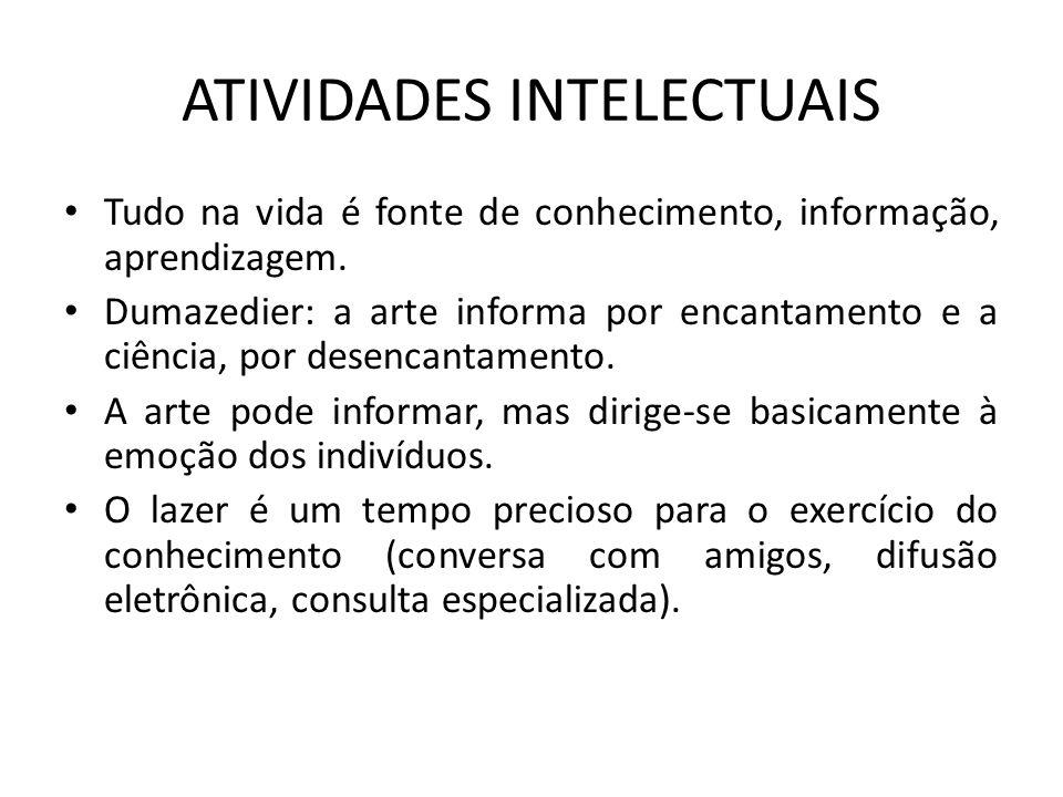 ATIVIDADES INTELECTUAIS