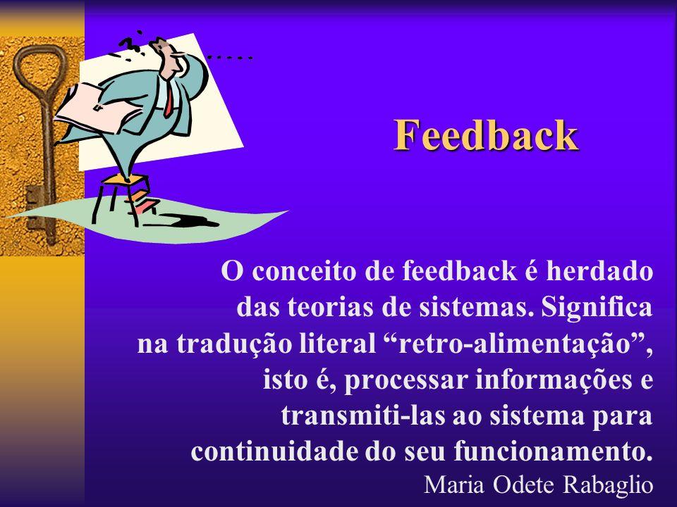 Feedback O conceito de feedback é herdado
