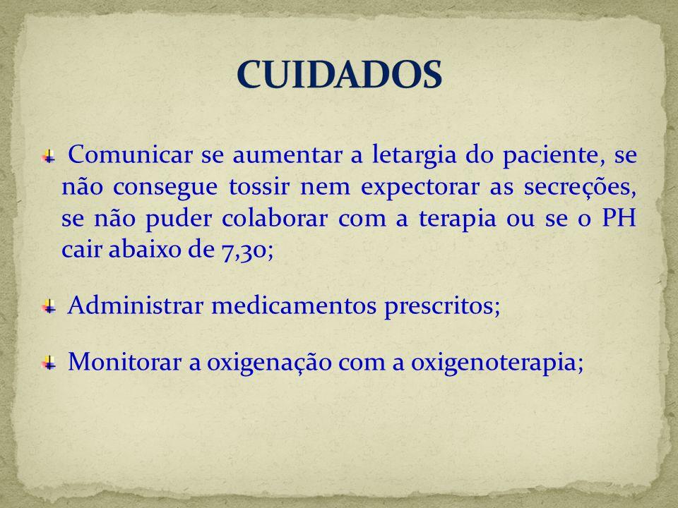 CUIDADOS Administrar medicamentos prescritos;