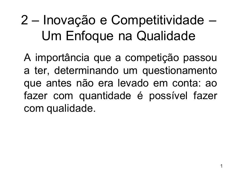 2 – Inovação e Competitividade – Um Enfoque na Qualidade