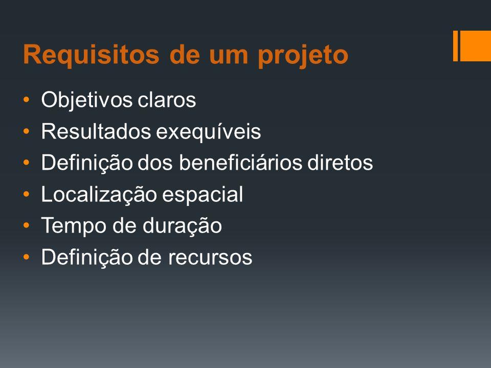 Requisitos de um projeto