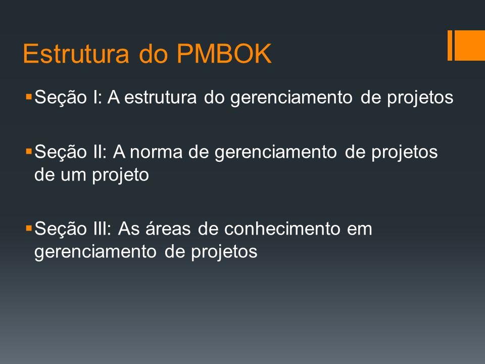 Estrutura do PMBOK Seção I: A estrutura do gerenciamento de projetos