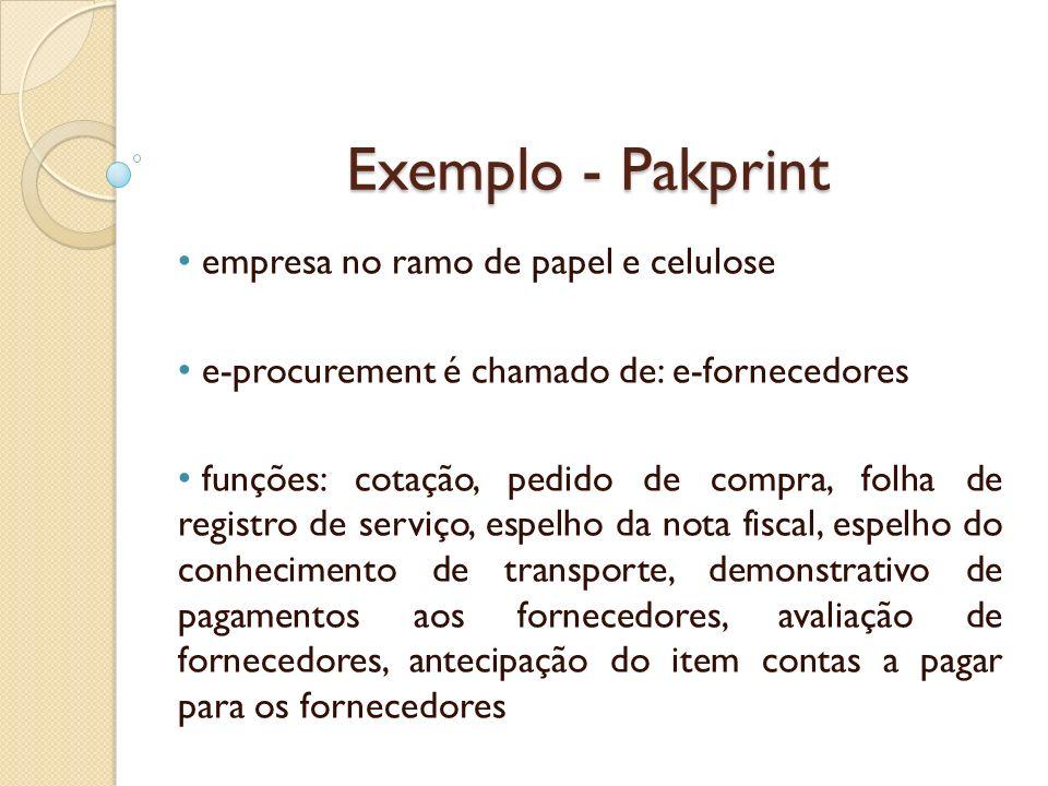 Exemplo - Pakprint empresa no ramo de papel e celulose