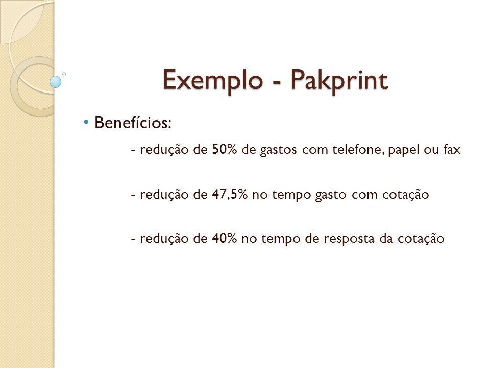 Exemplo - Pakprint Benefícios: