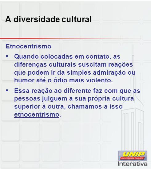 A diversidade cultural