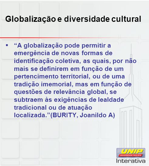Globalização e diversidade cultural