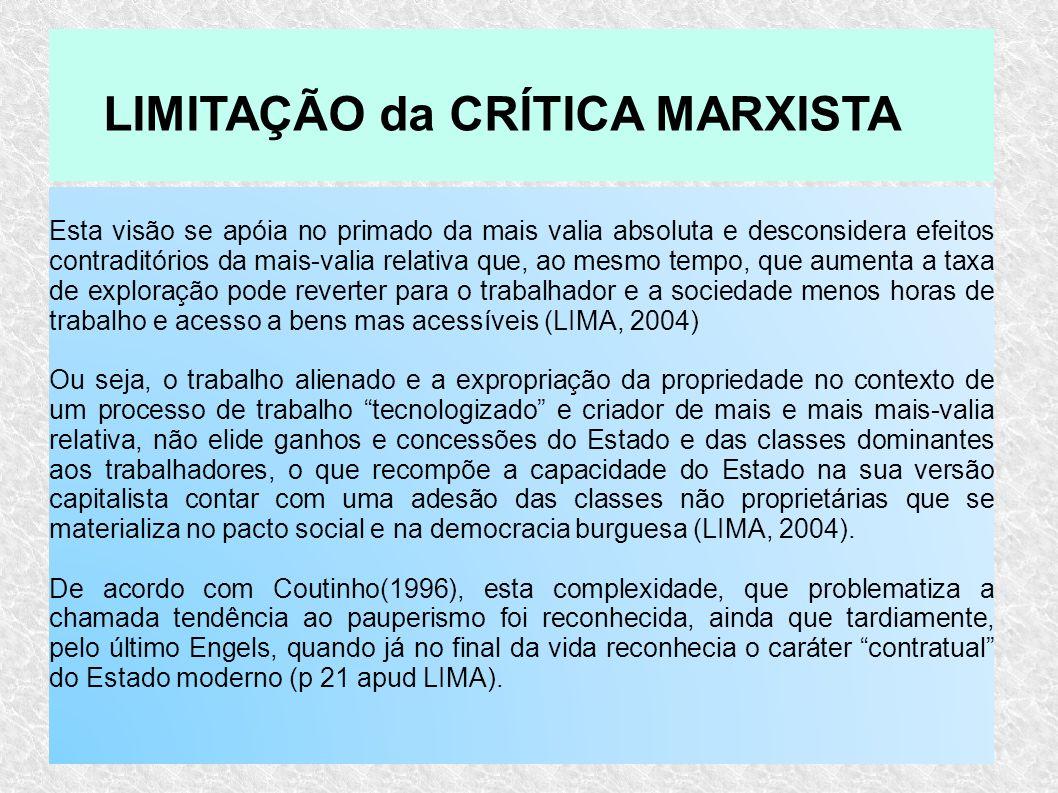 LIMITAÇÃO da CRÍTICA MARXISTA