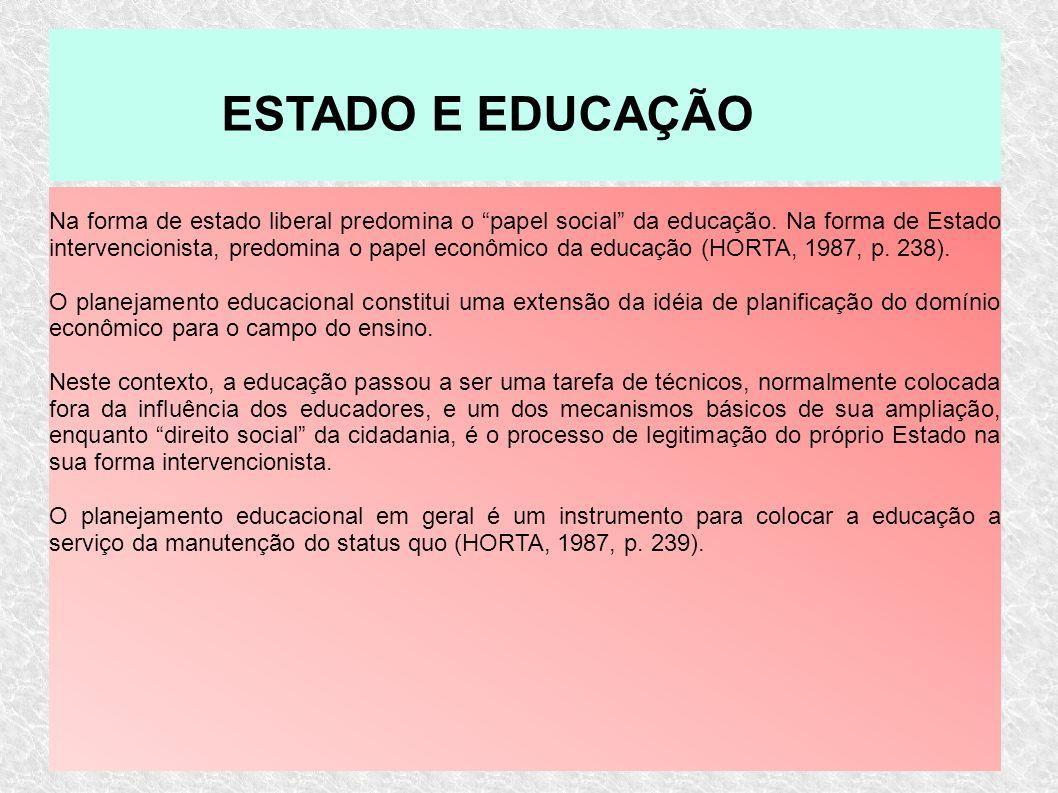 ESTADO E EDUCAÇÃO