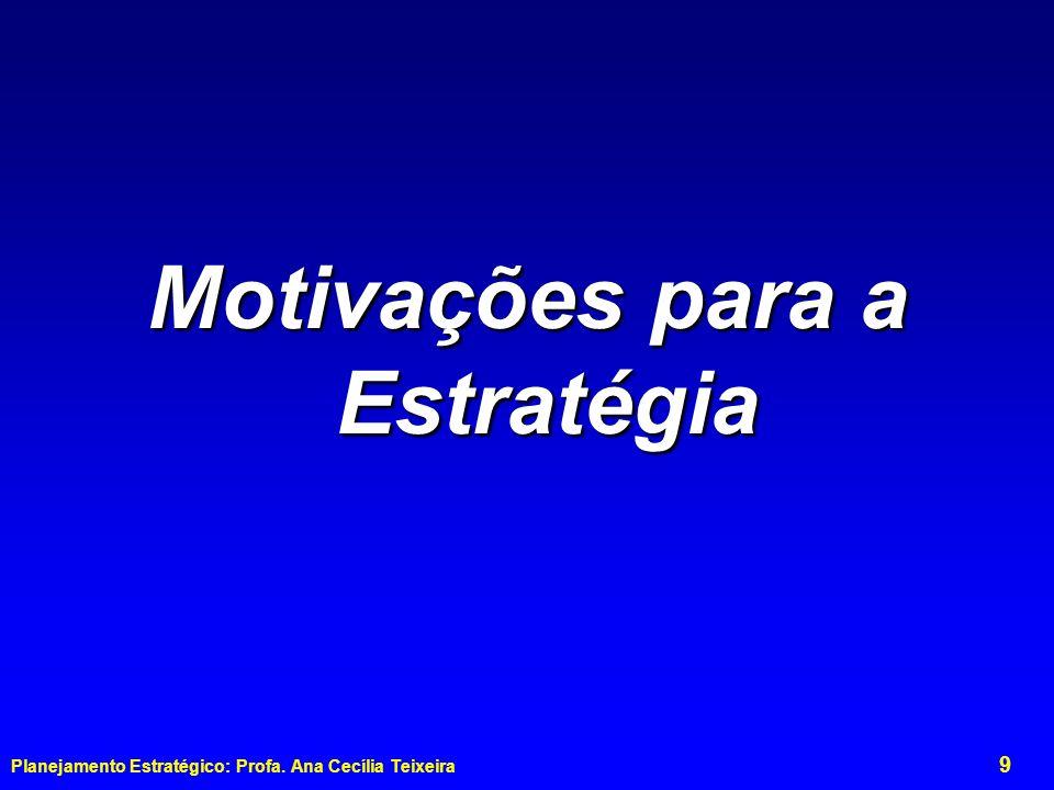 Motivações para a Estratégia