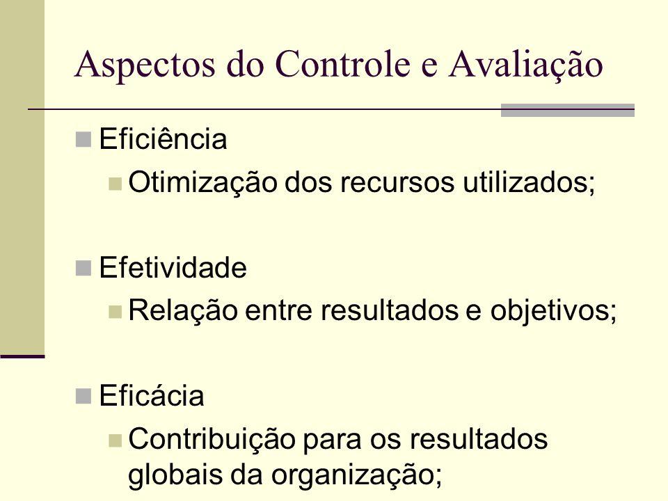 Aspectos do Controle e Avaliação