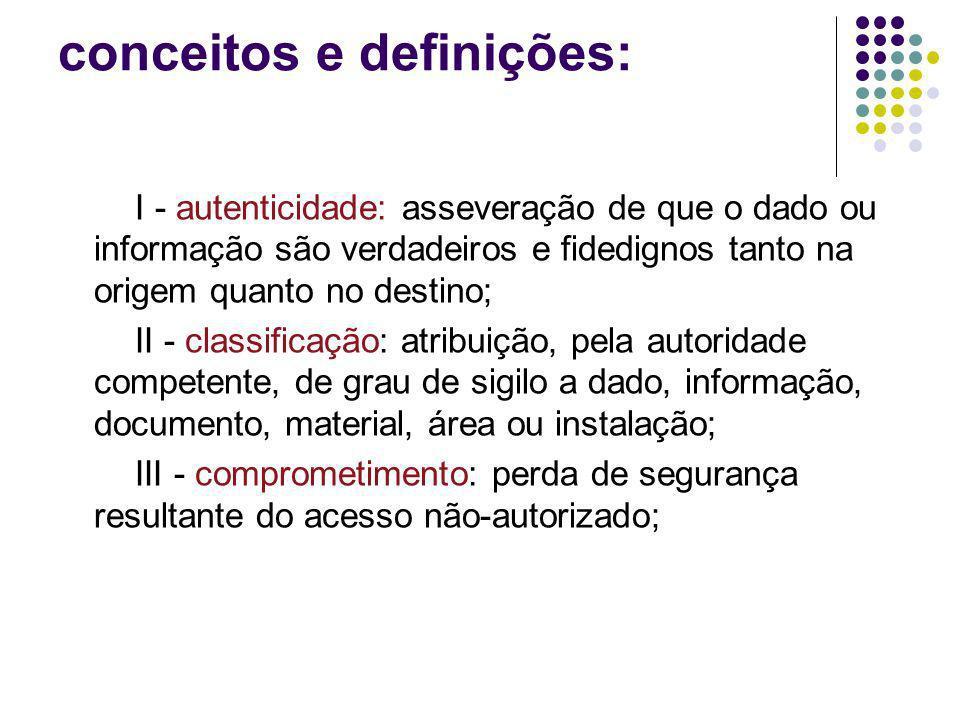 conceitos e definições: