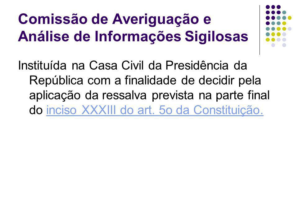 Comissão de Averiguação e Análise de Informações Sigilosas