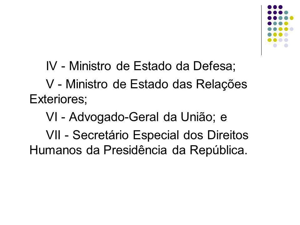 IV - Ministro de Estado da Defesa;
