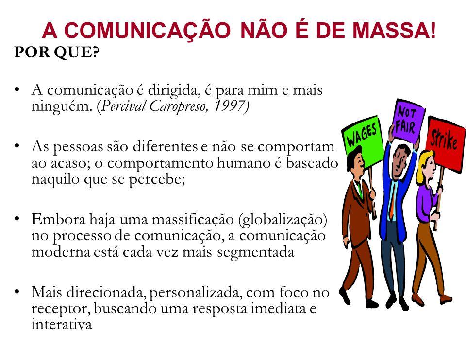 A COMUNICAÇÃO NÃO É DE MASSA!