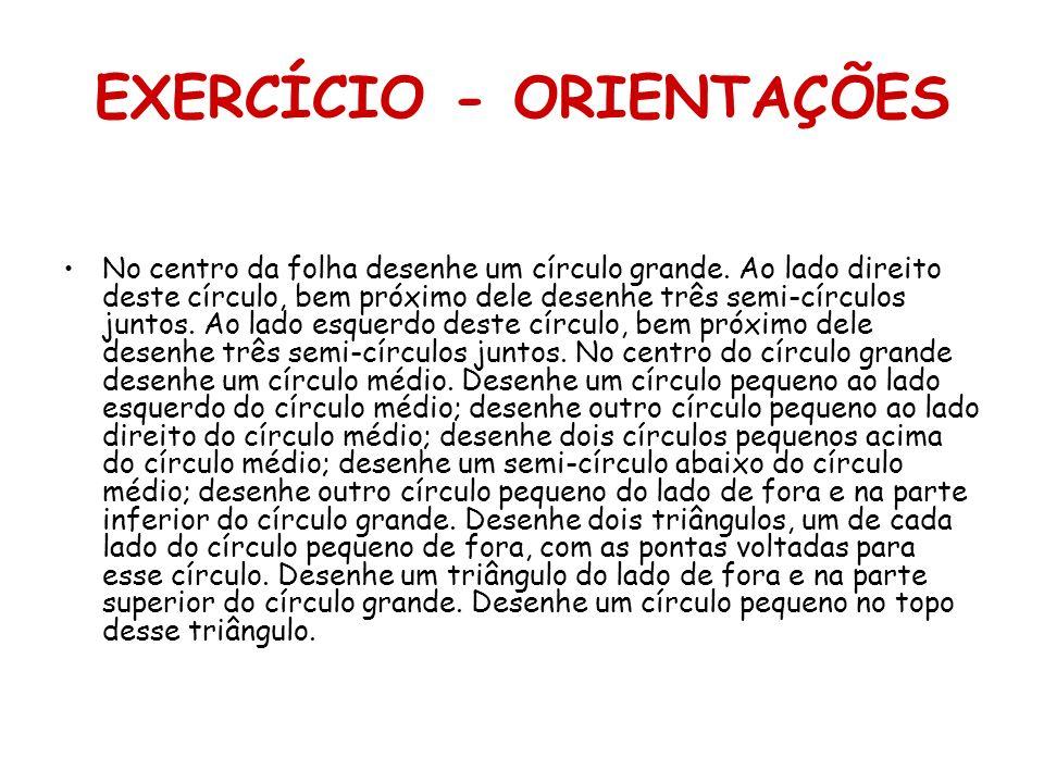 EXERCÍCIO - ORIENTAÇÕES