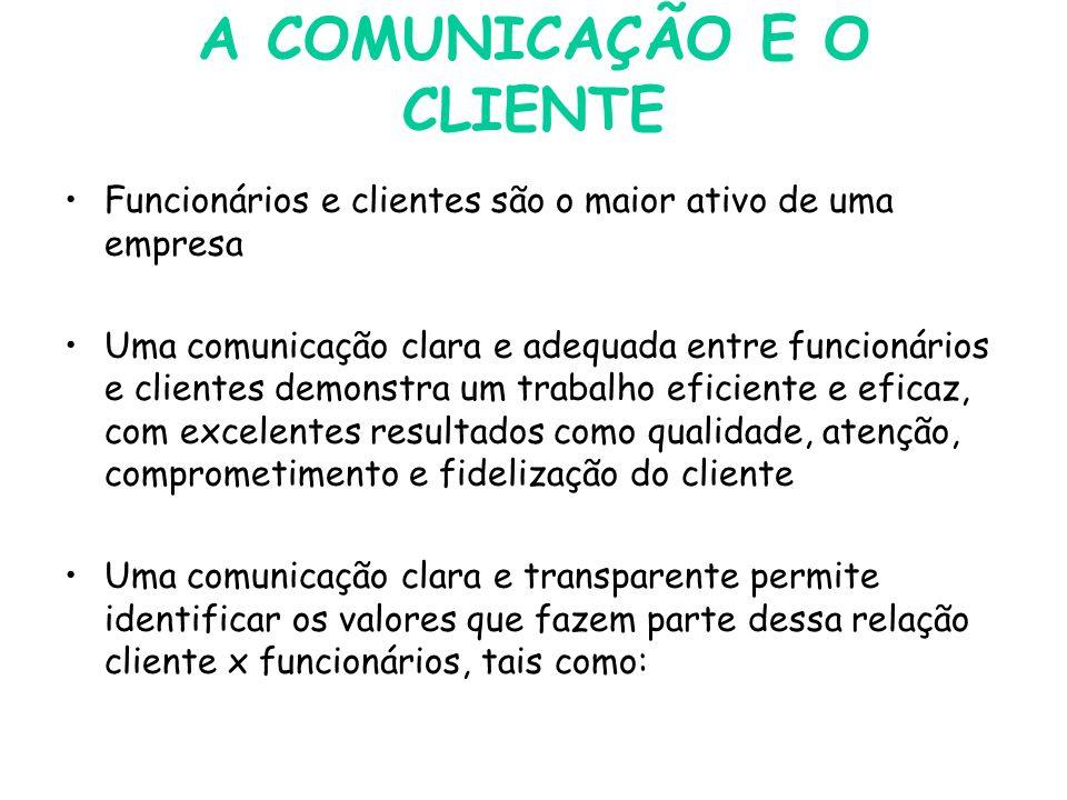 A COMUNICAÇÃO E O CLIENTE