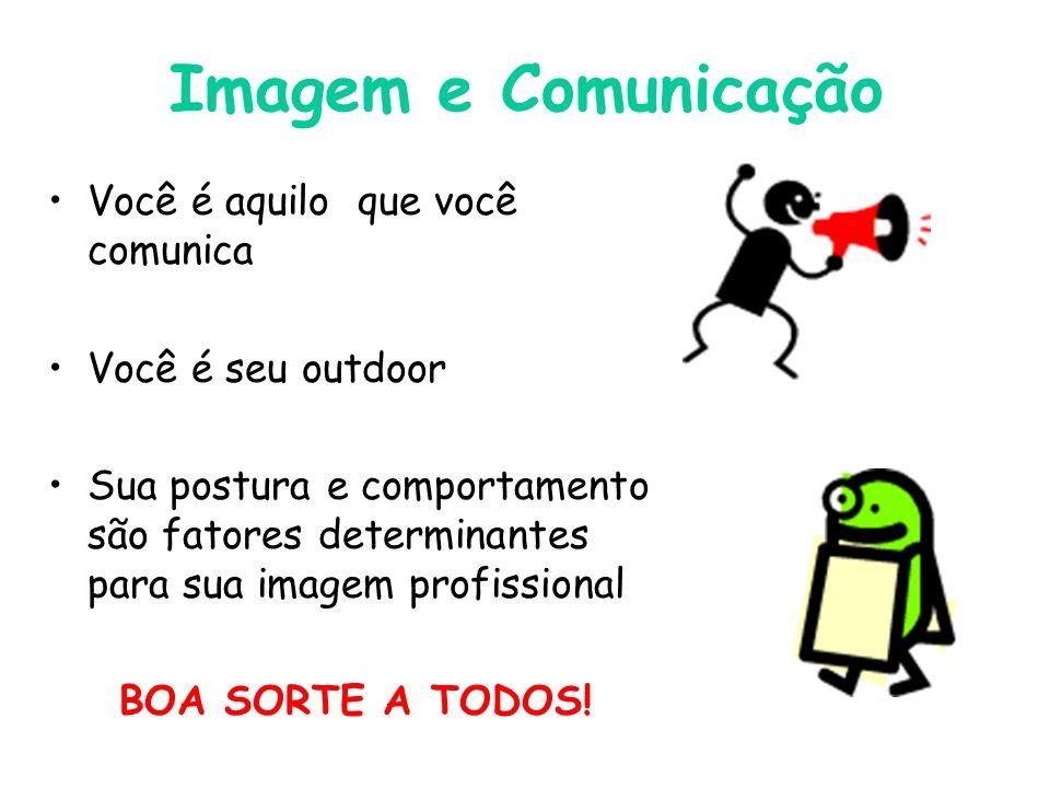 Imagem e Comunicação Você é aquilo que você comunica