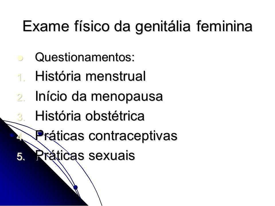 Exame físico da genitália feminina