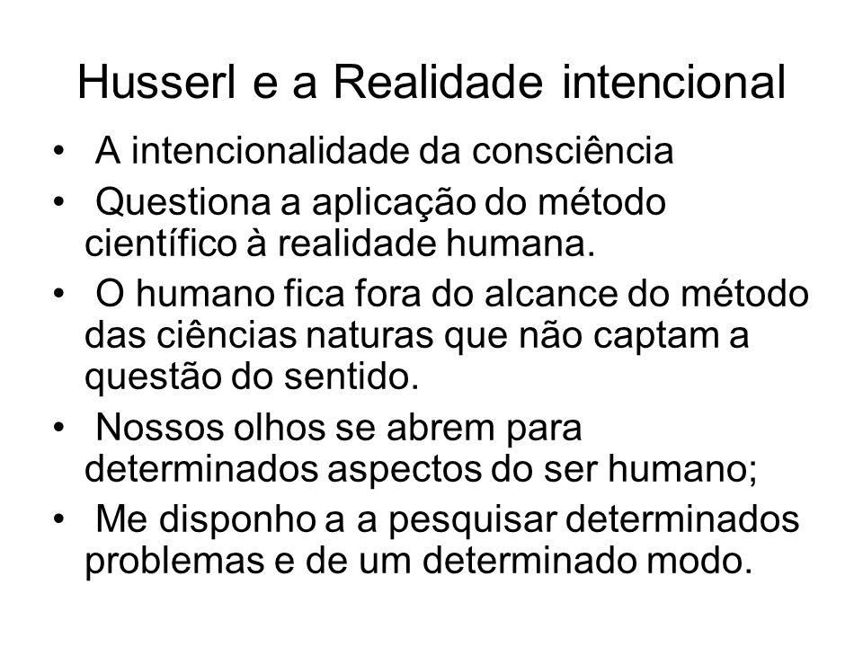 Husserl e a Realidade intencional