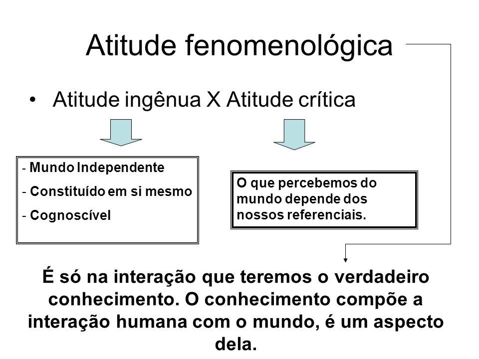 Atitude fenomenológica