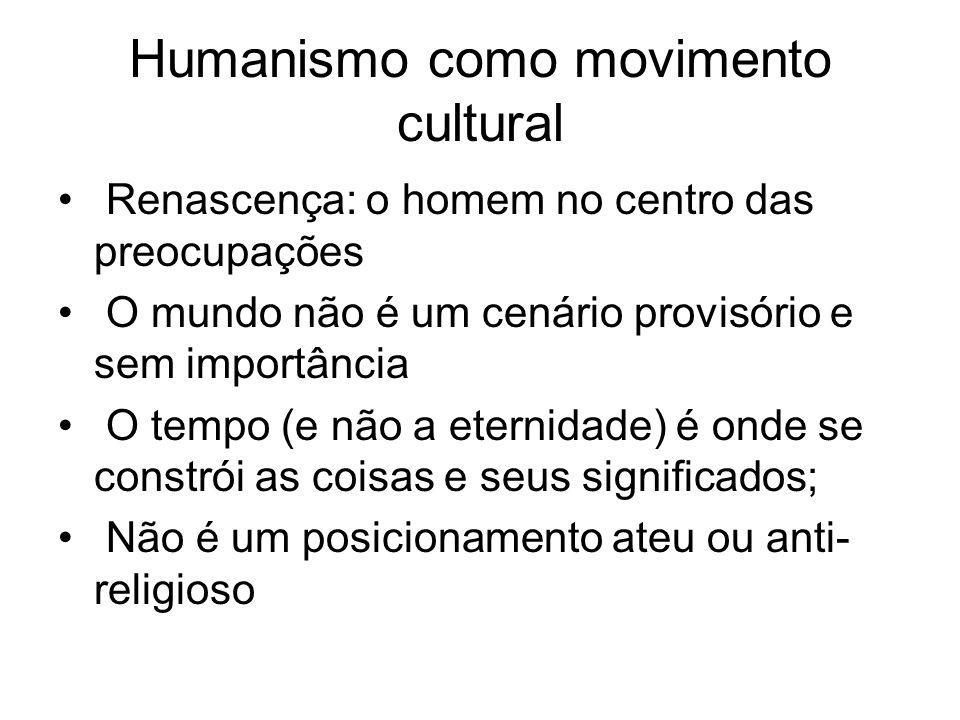 Humanismo como movimento cultural