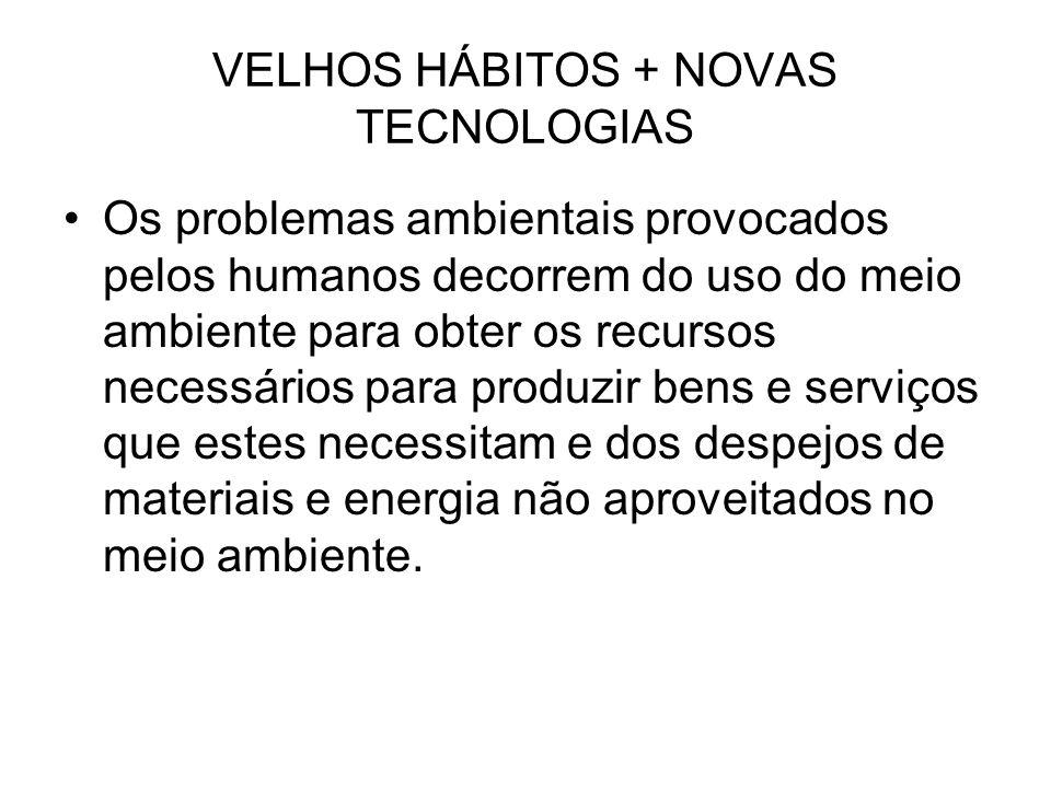 VELHOS HÁBITOS + NOVAS TECNOLOGIAS