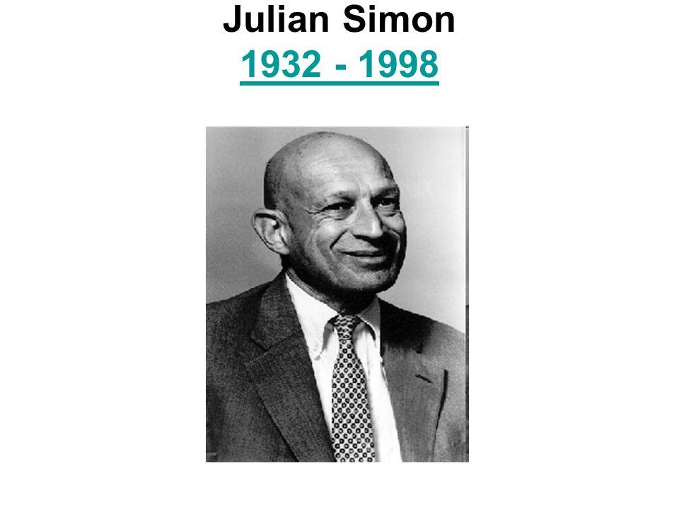 Julian Simon 1932 - 1998