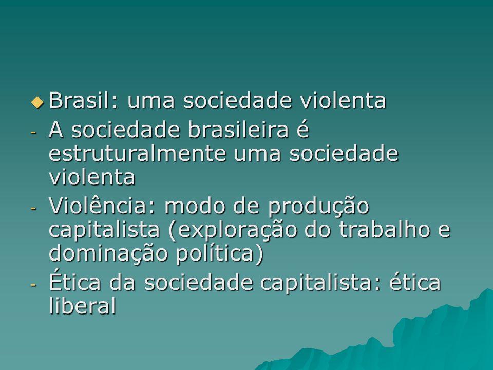 Brasil: uma sociedade violenta