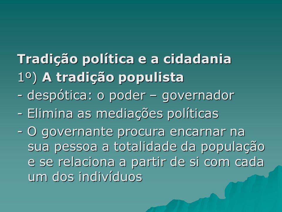 Tradição política e a cidadania
